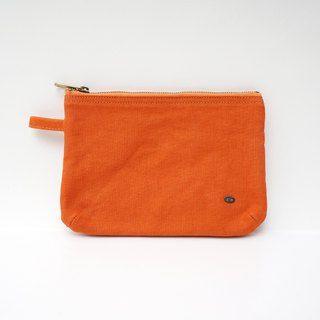 Mushroom MOGU / Canvas Storage Bag / Persimmon Orange / Boarding Pass