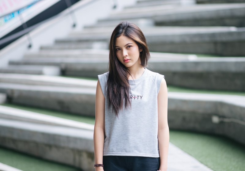 Rarity Gray Cropped T-Shirt