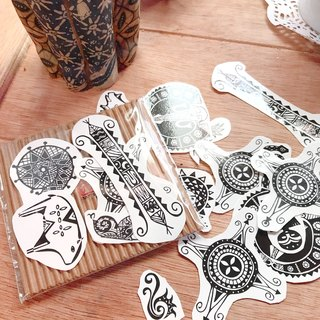 Original Taiwan Image Totem Tattoo Sticker Small Lucky Bag 10 Pack Discount 50//1 Pack Random