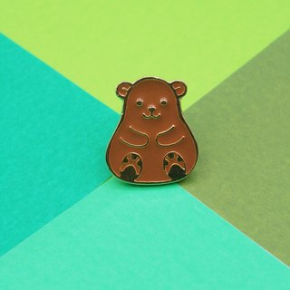 Brown Bear Lapel Pin
