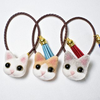 Petwoolfelt - Needle-felted cat accessories (bag charm)