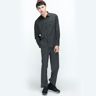 hao Plaid Trousers fine grid wool pants