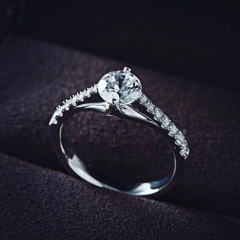 Frankness|18K白金鑽石婚戒BL057|玫瑰金/鑽戒/情侶/訂製/客製化