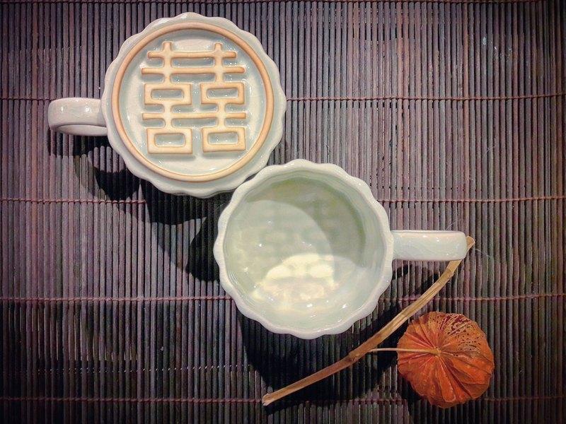 【台客藍】見囍咖啡杯 雙喜臨門對杯