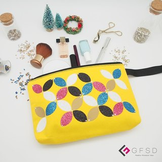 【GFSD】 Rhinestone boutique - simple series - lemon yellow [kaleidoscope] portable million with cosmetic bag