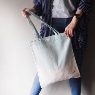 Alice Blue Gradient - Canvas Hand Dye Tote Bag Back