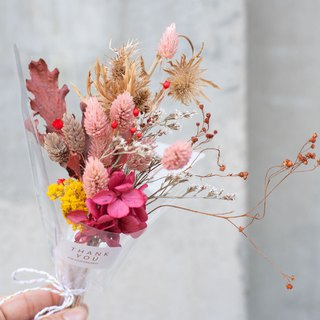 Hand-held without flowers, dry bouquets - small / Valentine's Day, birthday, wedding, teachers' day