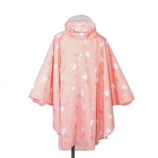 Waterproof and breathable printed children's raincoat <Pink Rabbit>