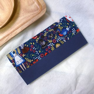 Alice in Wonderland American cloth washed kraft paper clip | long clip wallet