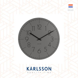 Karlsson, Wall clock Blade Numbers metal dark grey