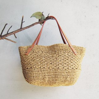 Light walk out of the weaving pattern small bag / / card its //