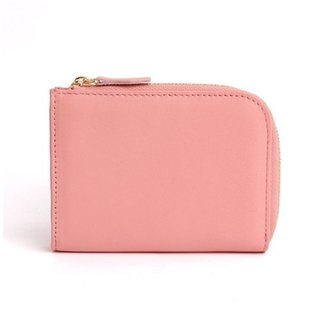 韓國Socharming-Tidy Leather Wallet-Pink