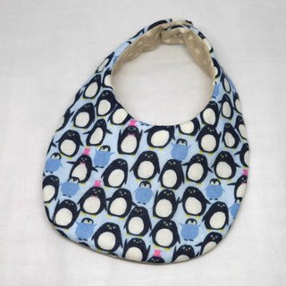 Japanese Handmade 4-layer-double gauze Baby Bib / Penguin