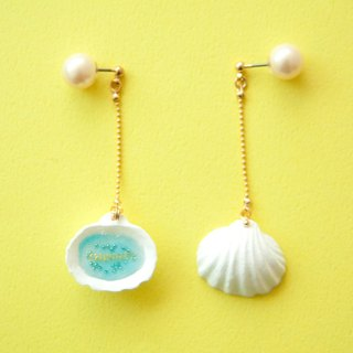Hidden celebrity pierced earrings - bivalves