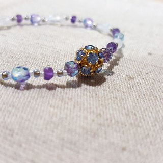 Dotdot | Blue Halo Moonstone x Amethyst x Bright Blue Czech Crystal Beads
