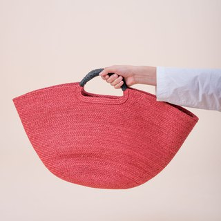 HARPER BEACH BAG / Scarlet