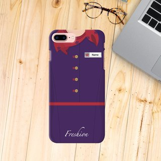 Hong kong Airlines Air Hostess Fight Attendant Red scarf iPhone Samsung Case