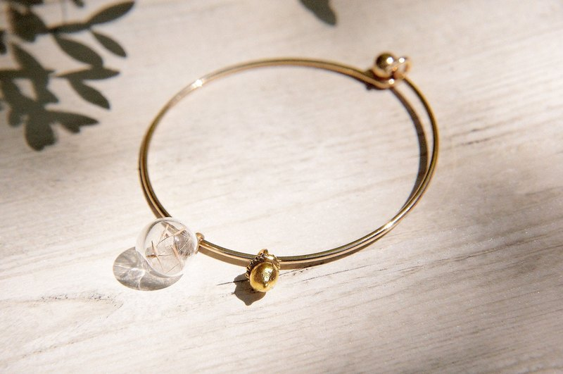 Valentine's Day gift / Department of Forestry / British sense of design geometry glass ball gold bracelet bangle bracelets - solid oak Dandelion +
