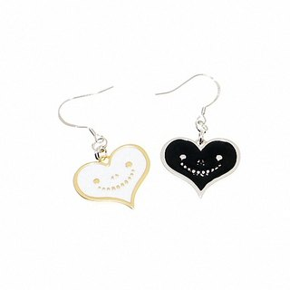 """Heart dream brand"" dream of metal jewelry series - personalized smile love earrings (925 sterling silver allergy)"