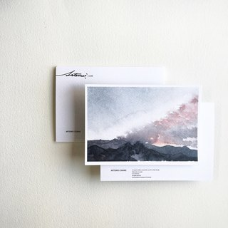 Watercolor Postcard - Taichung / Study Front Mountain View (leaflet)