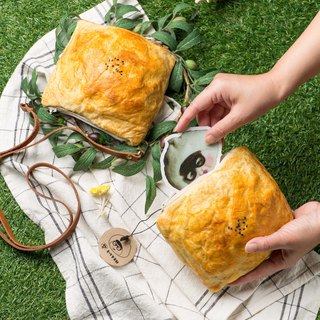 [Hand Wrap Felt] Start crisp bread purse - length and width of about 14.5cm oblique angle of about 18cm
