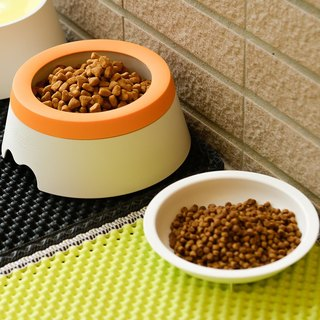 Antibacterial 98.7% bowl that no longer sprinkles (grape orange) (dogs and cats can use)
