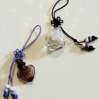 With * fragrance handmade glass mobile phone strap