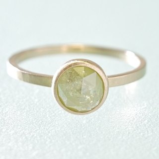 "Japan Quality | 1.12ct Natural Diamond Stacking Ring ""Lime"" 14K RG"