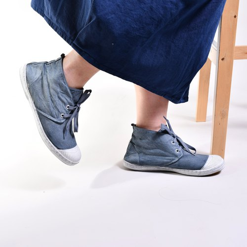 KARABOOT dyeing series / ore blue / canvas shoes / casual shoes / high shoes