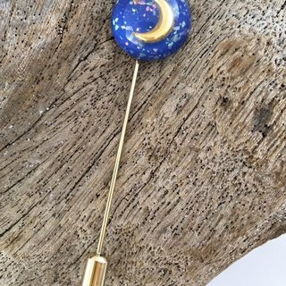 ☆ crescent moon ☆ France made charm ◆ Hat Pin