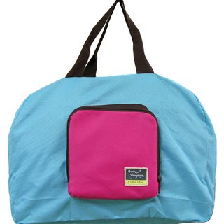 Travelholic Foldable tote Design for all shoppers - Light Blue - Cherry