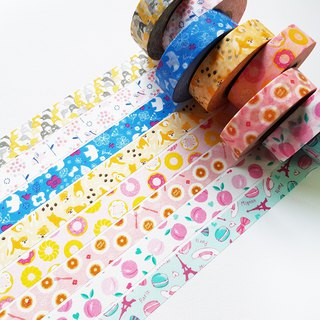 NICHIBAN Petit Joie Masking Tape【8-roll Set】