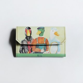 Handmade Paper Purse - Duck friends