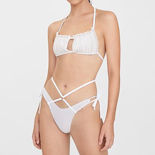 Try swimwear  bandeau top bikini in white