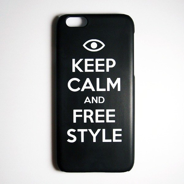SO GEEK mobile phone shell design brand THE KEEP CALM GEEK FREE STYLE models (black)