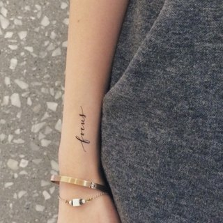 "cottontatt ""focus"" calligraphy temporary tattoo sticker"