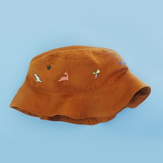 DINOSAUR ROAR - Linen Bucket Hat