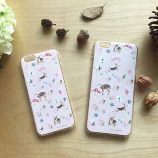 Zoe's forest Pink Fawn Mobile Shell plus/7/7plus/8/8plus/X