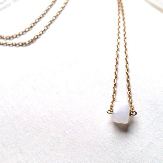 Small sugar - white brass necklace