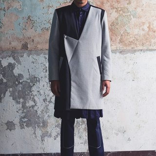 Changes collar Long wool coat (162J03)