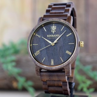 EINBAND Reise Walnut & Gold 40mm  Wooden Watch