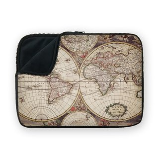 Medieval Map shock-absorbing waterproof laptop bag BQ7-MSUN13