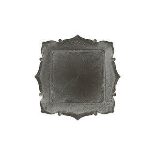 Vintage embossed decorative tray / square