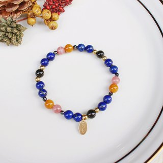 <Slow and warm natural stone series>C1130 Lapis bracelet