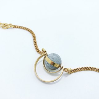 Brass Cement Half Moon Bracelet Agaric Garden x C3CraftStudio Moon Tour