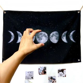 Hanging cloth, cloth, background cloth, picking a moon for you