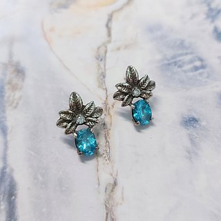 Crystal Diamond Stud Earrings 925 Silver Diamond Color Changeable