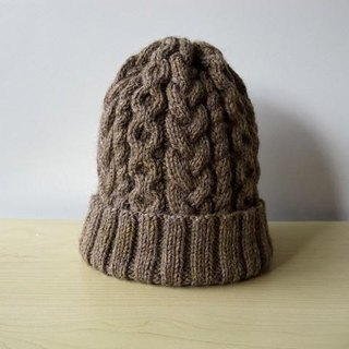 Alan knit hat Brown