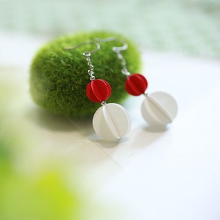 Gourd earrings-Red-