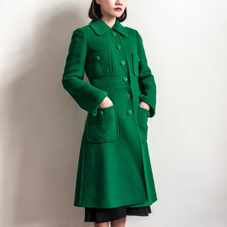 Vintage bright green vintage coat